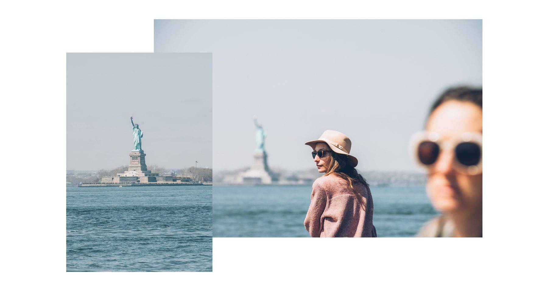 Statue de la Liberté depuis Red hook, Brooklyn