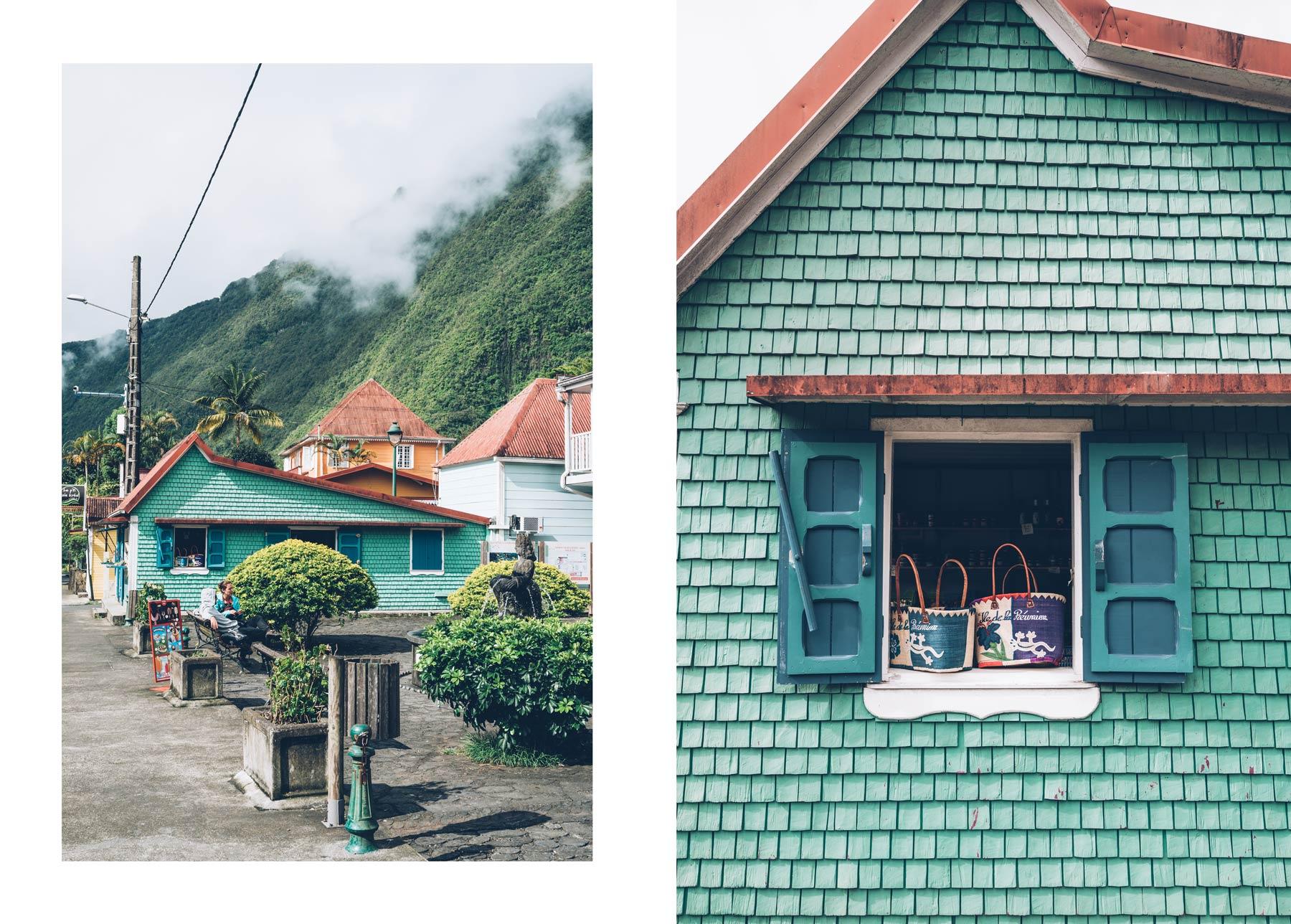 Façades colorées du village de Hell Bourg, La Réunion