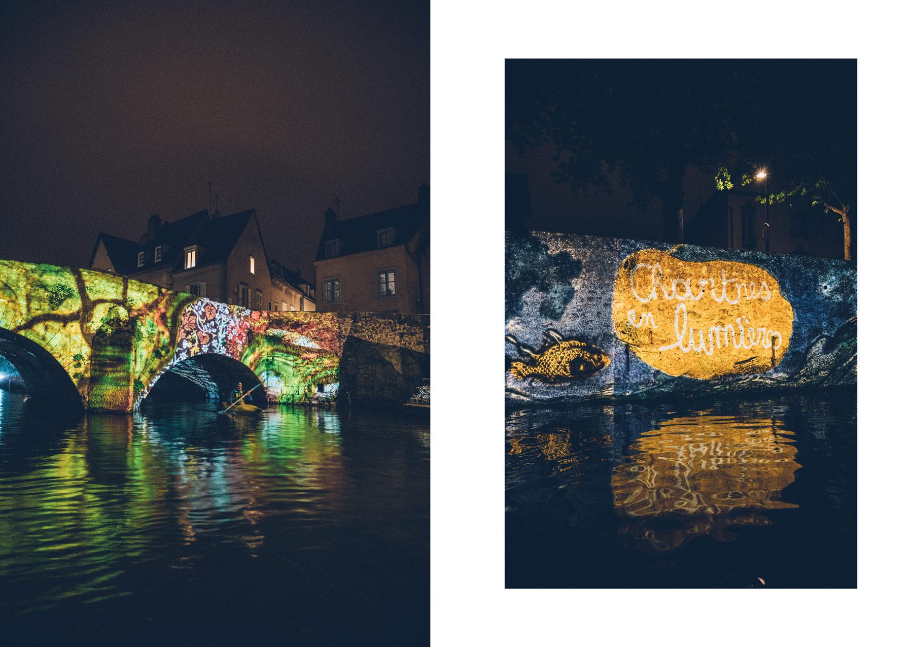 une sortie nocturne en canoë , Chartres