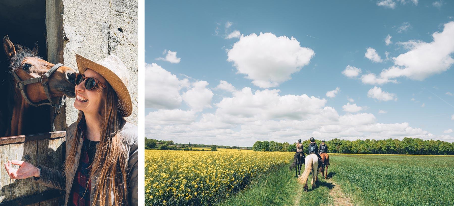 Balade à cheval près de Chartres