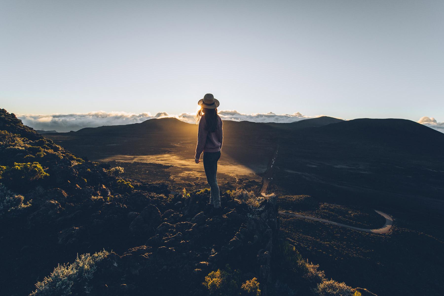 Plaine des Sables au lever de soleil, La Réunion