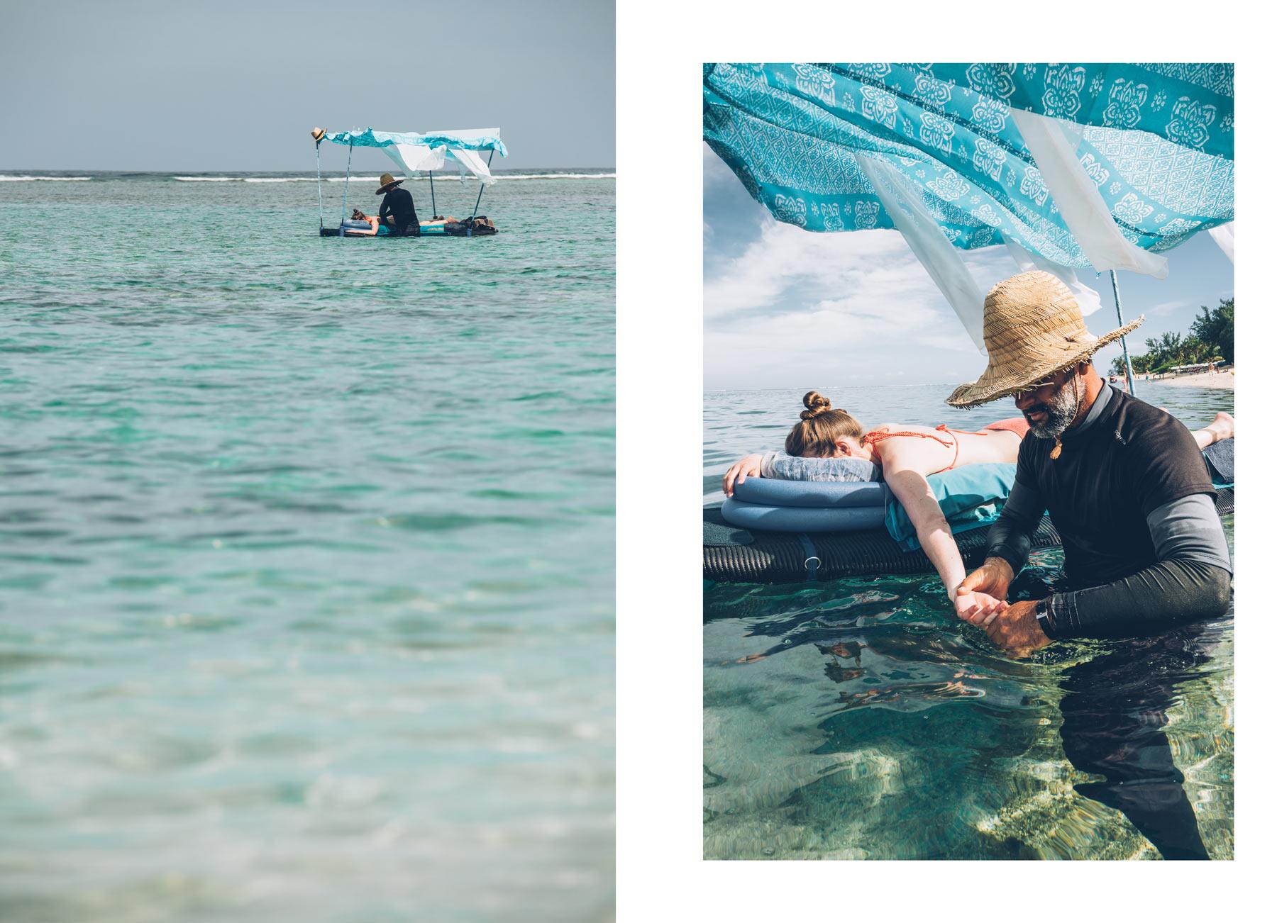 Massage sur l'eau avec Didier, Ile de la Réunion