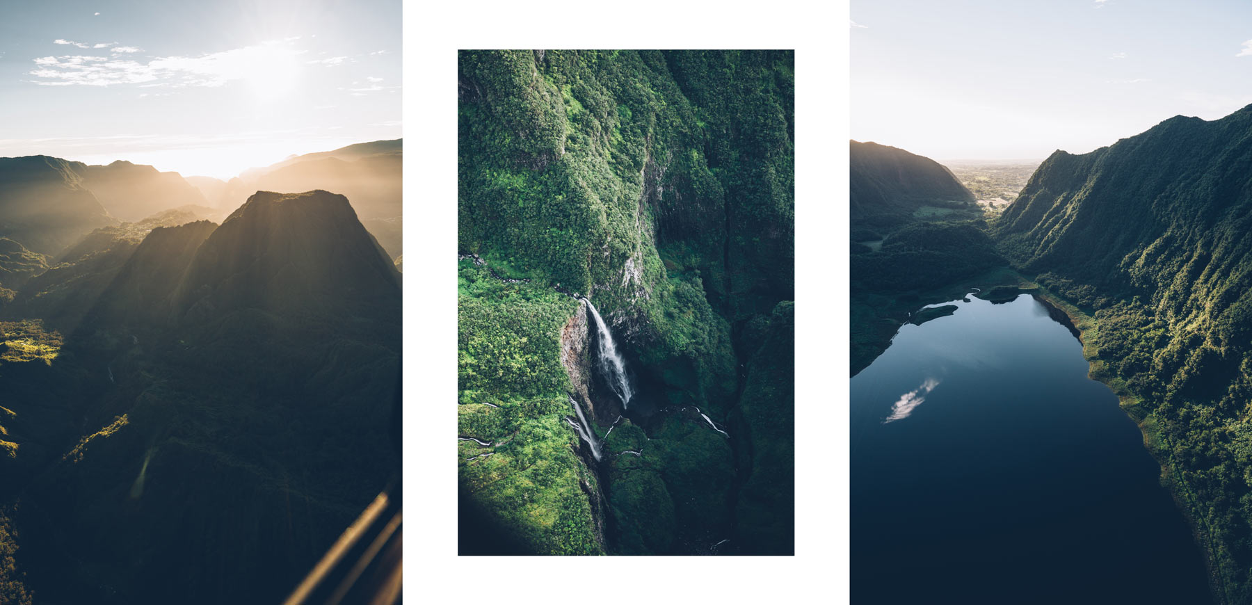 Vol en hélico au dessus de la Réunion