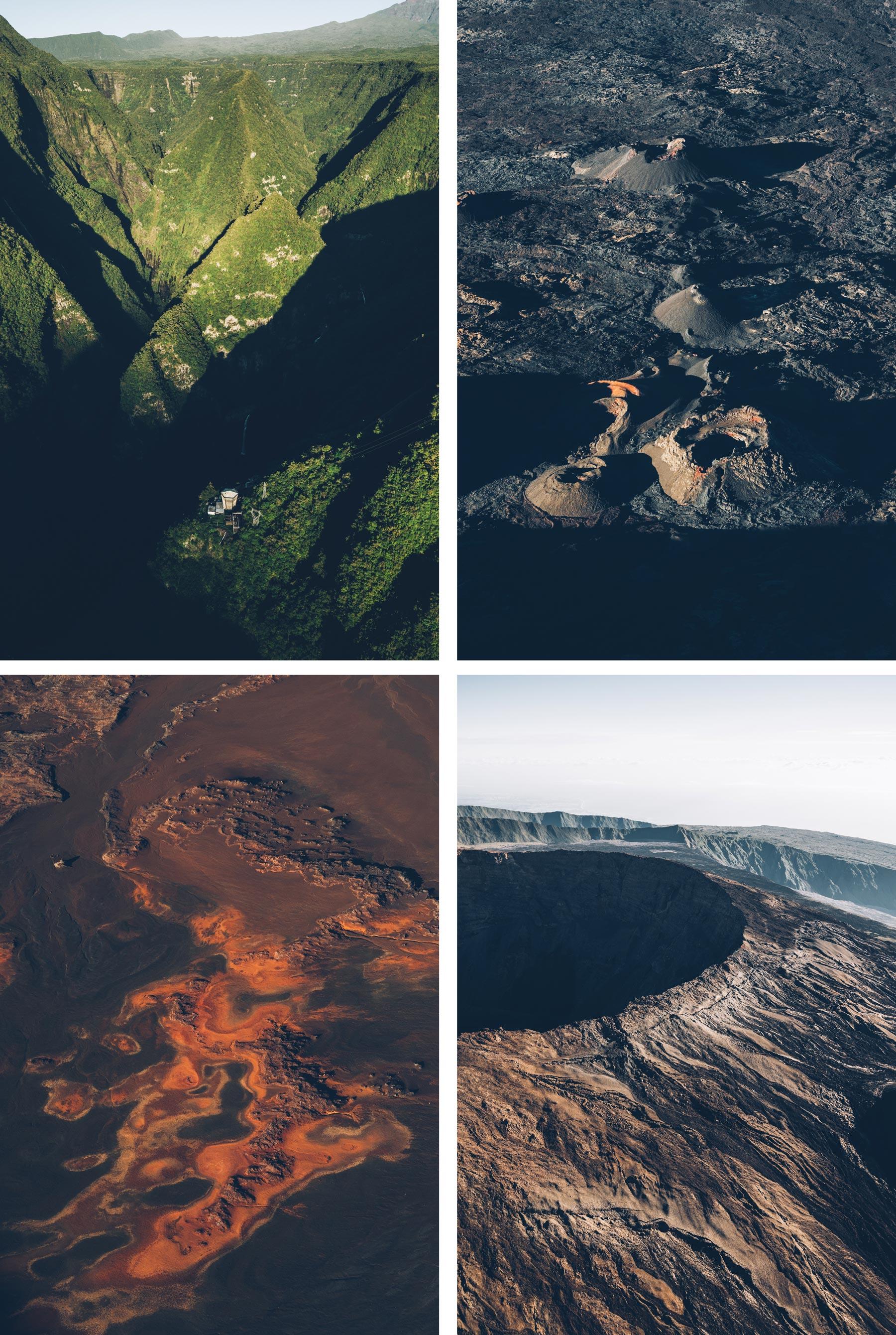Vol scénique au dessus de la Réunion