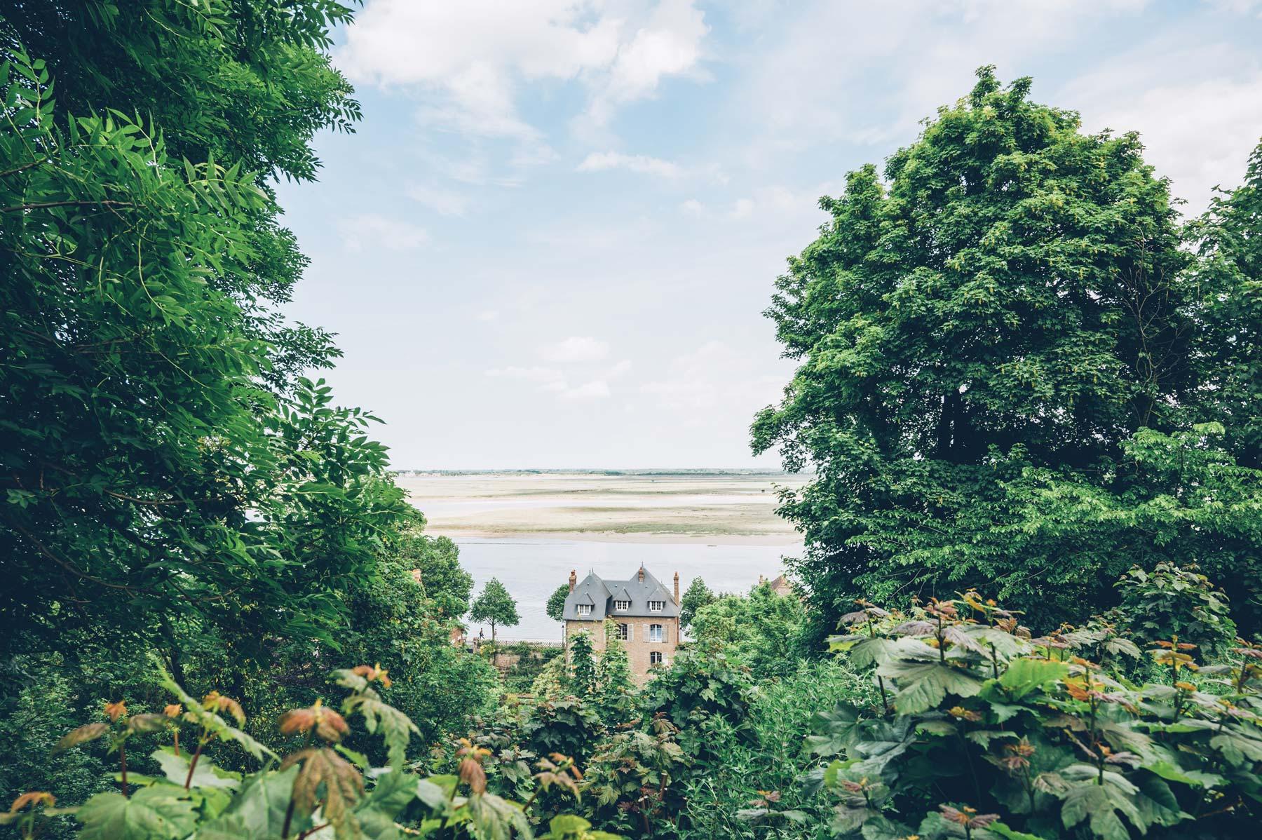 Vue depuis les hauteurs de St Valery, Baie de Somme