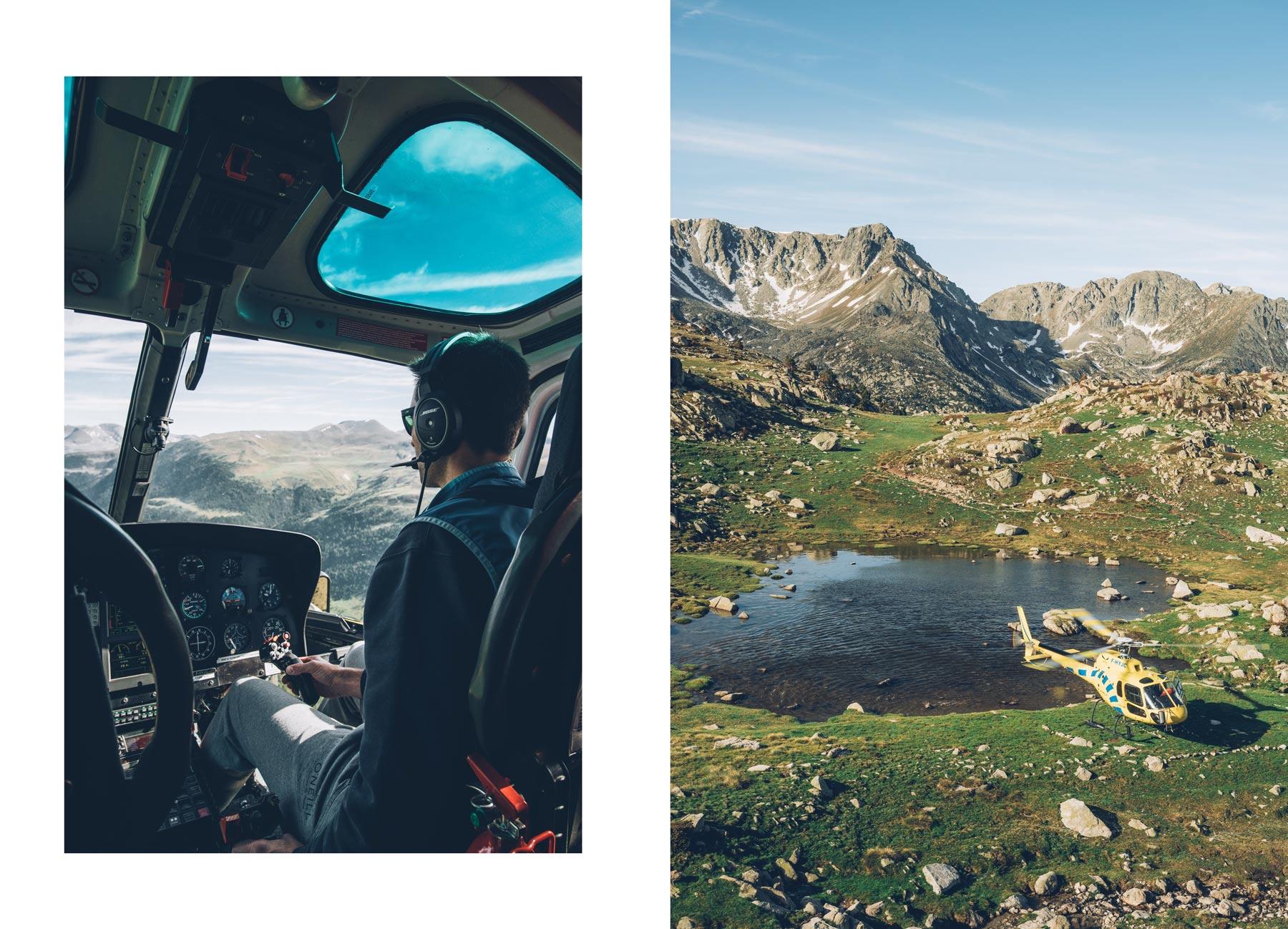 Survol d'Andorre en Hélico