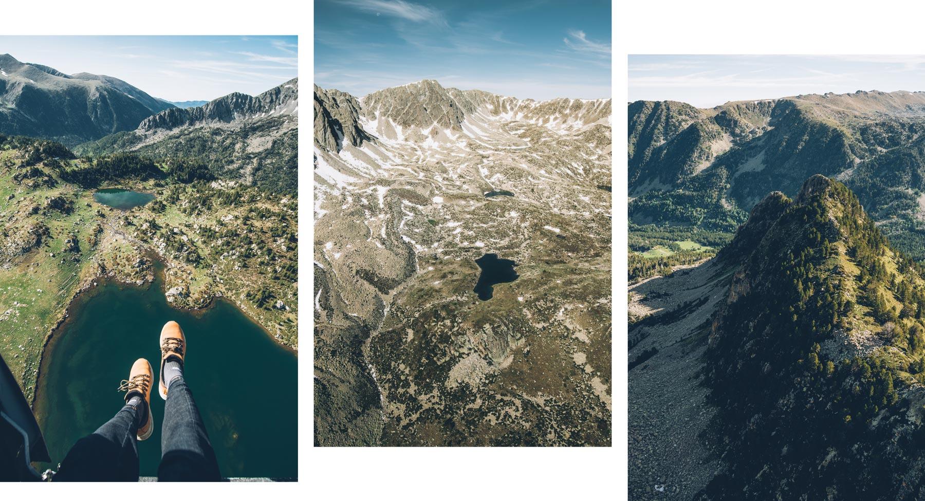 Photos depuis hélicoptère, Andorre
