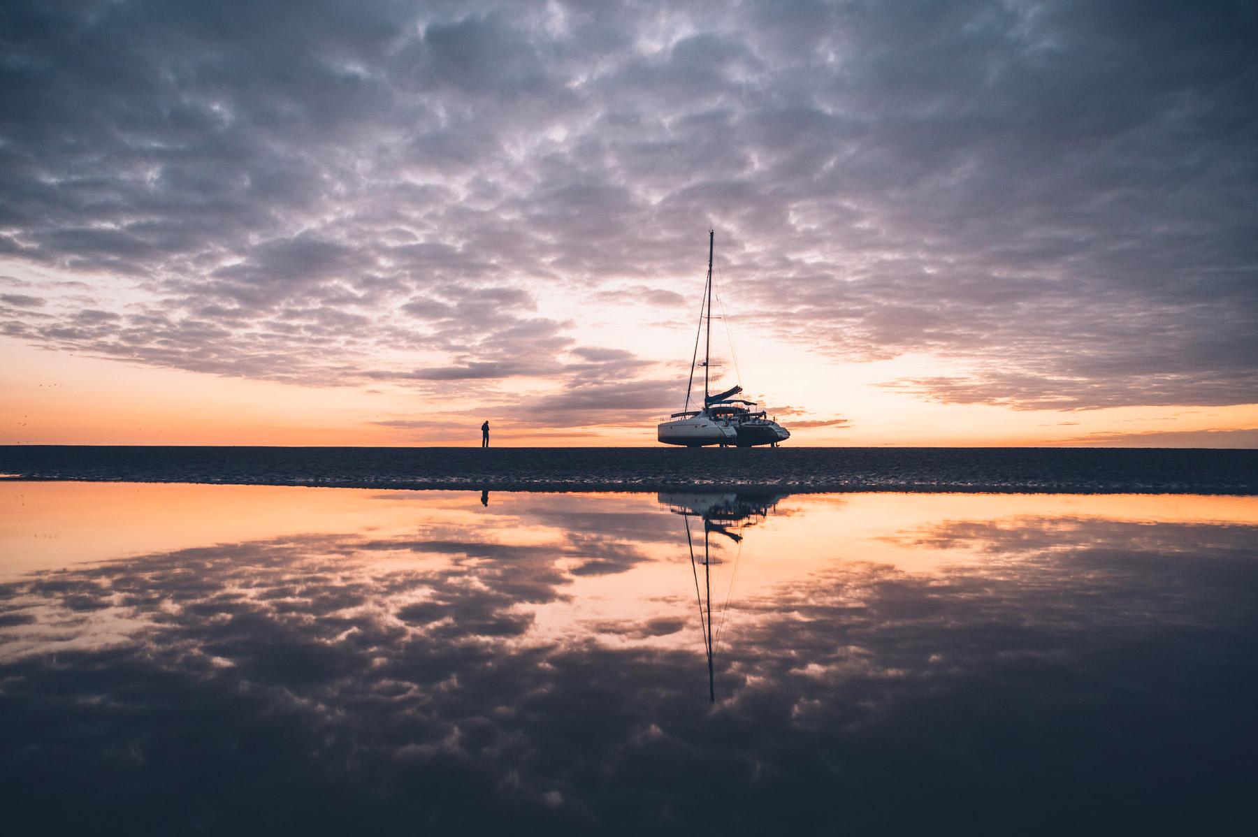 Sortie catamaram Baie de Somme Nuit