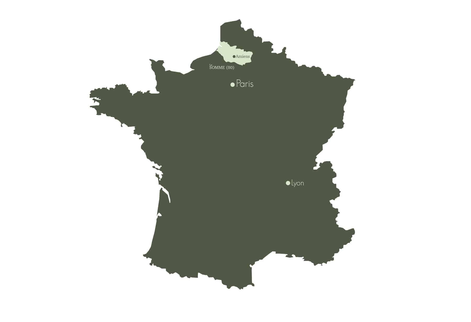 Carte Somme France