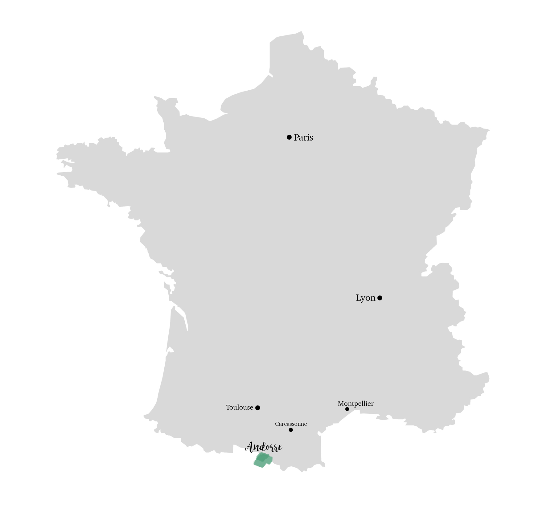 Andorre situation sur carte de France