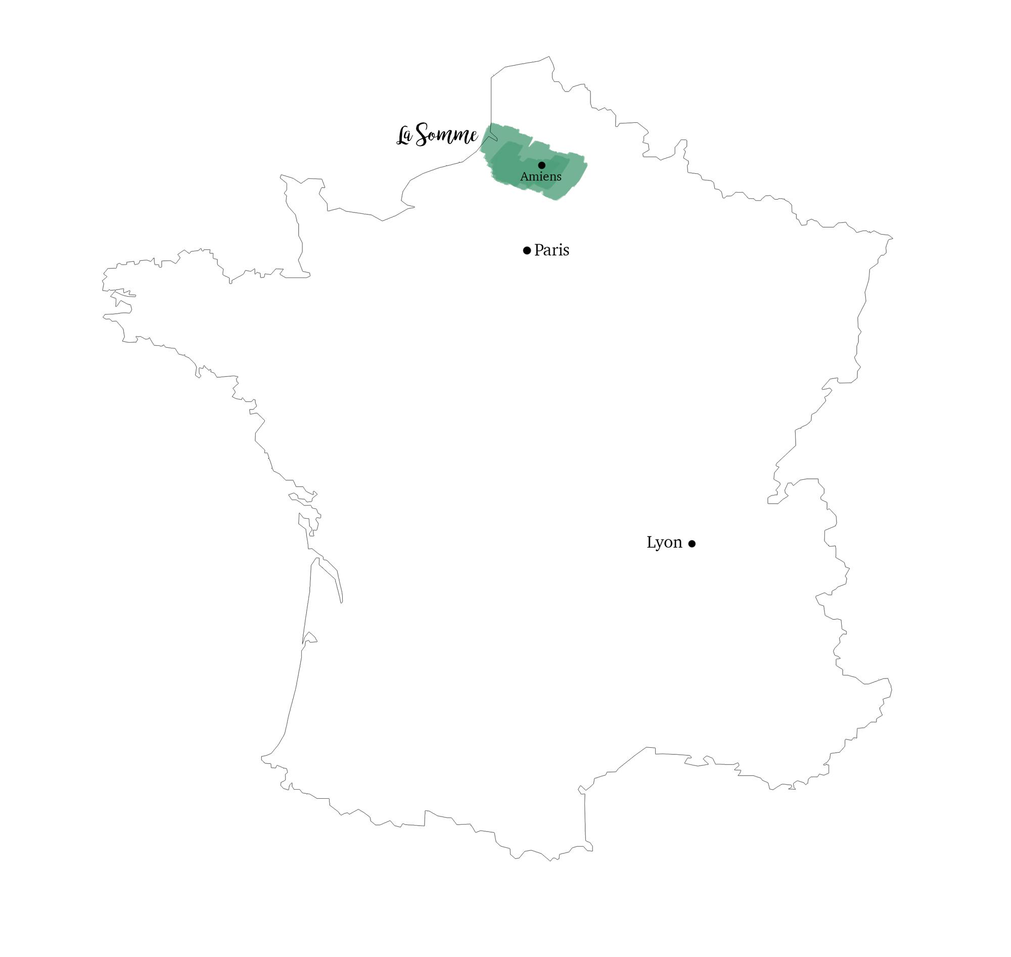 Carte de France - Somme