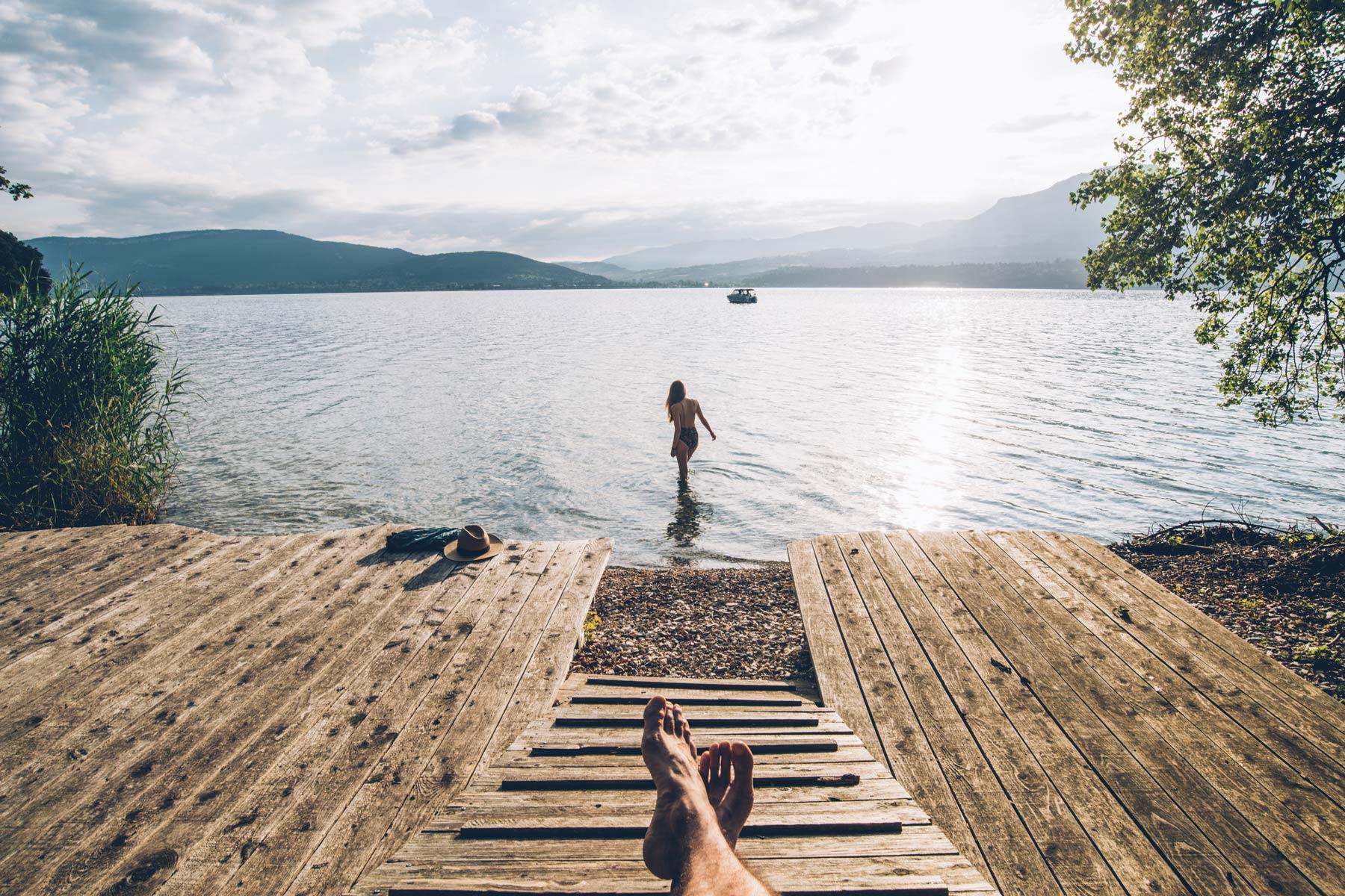 Lac du Bourget, Accès privée depuis la Turquoise égarée