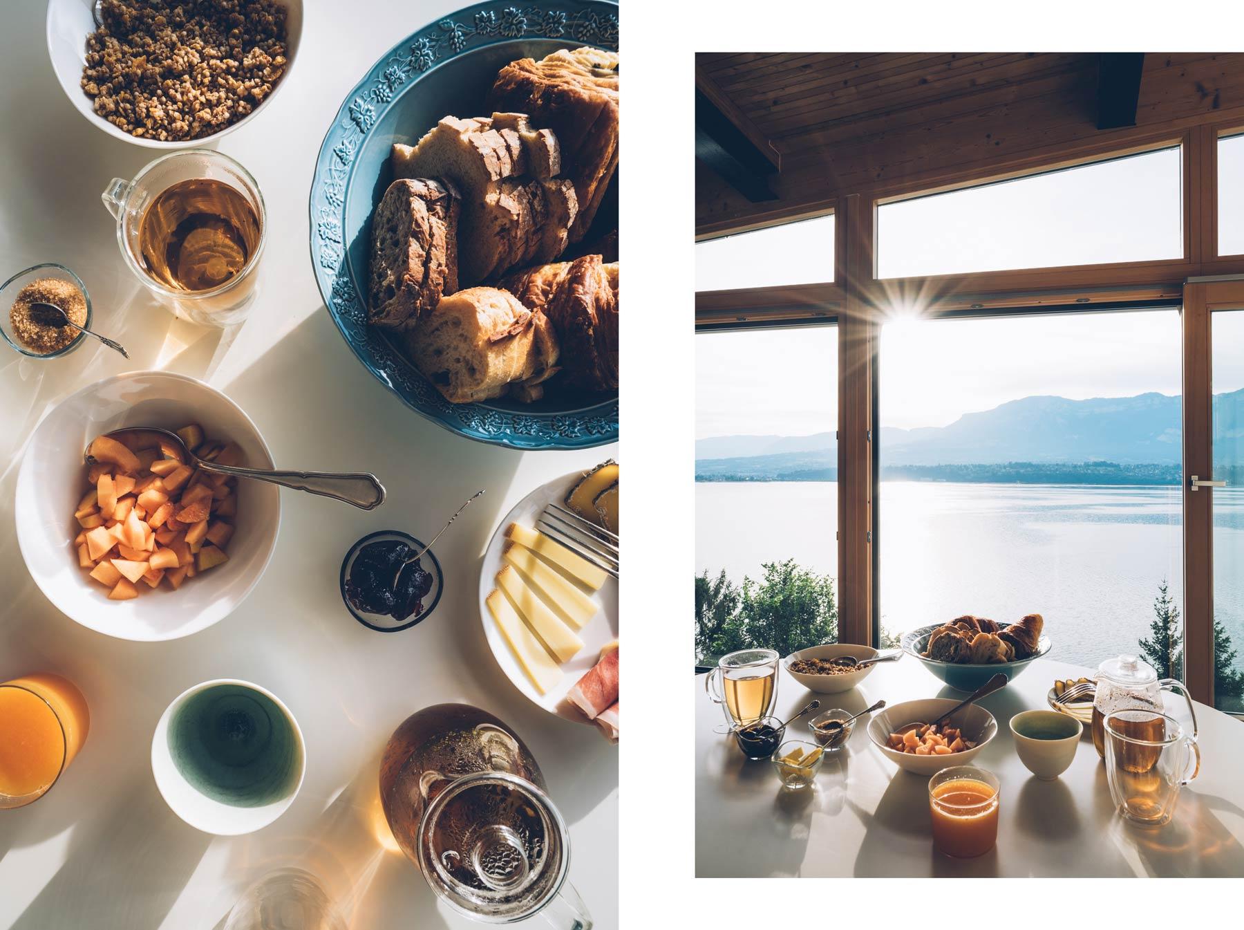 Petit déjeuner, la Turquoise Egaree, Bourget le Lac