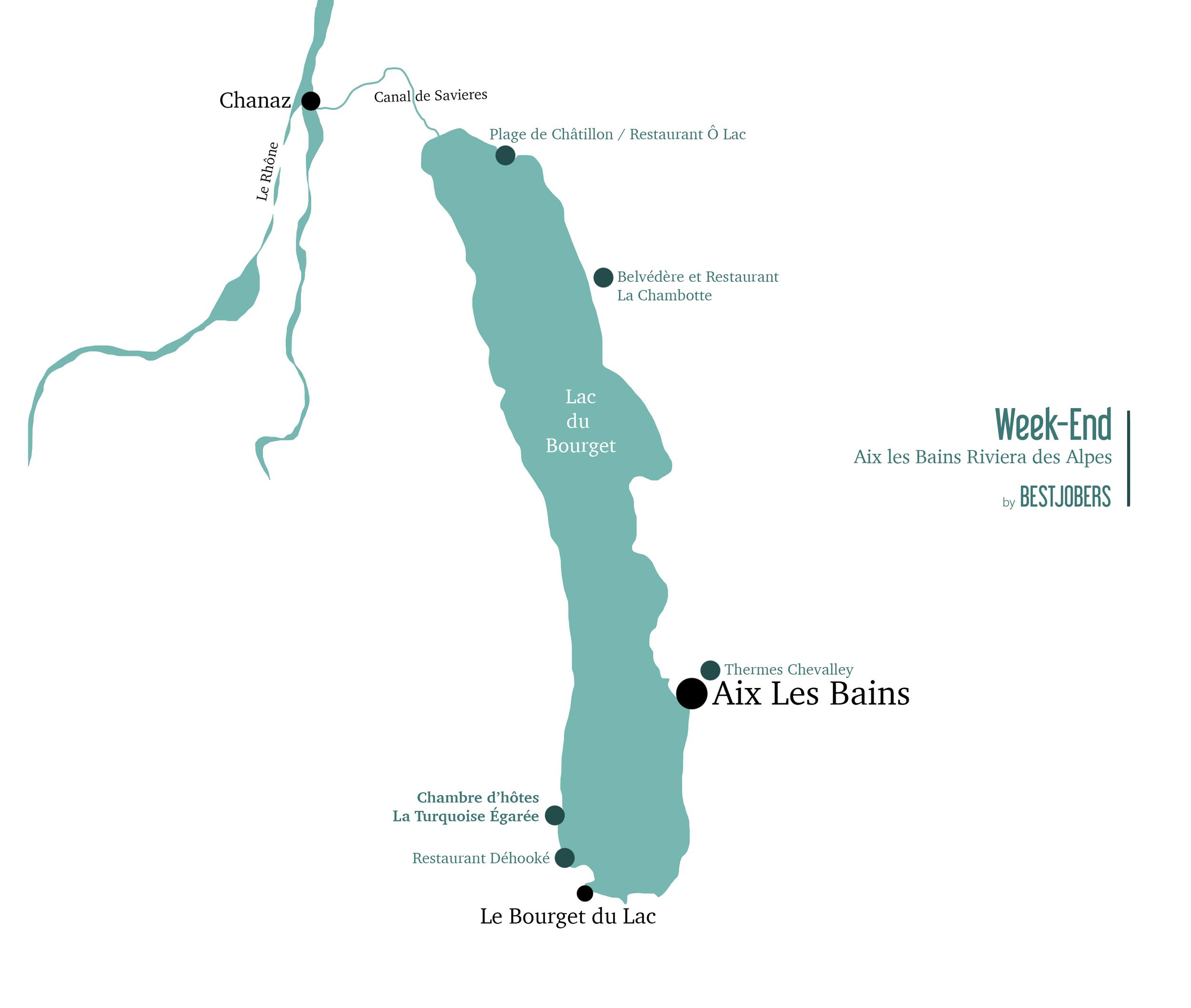 Carte Aix les Bains Riviera des Alpes