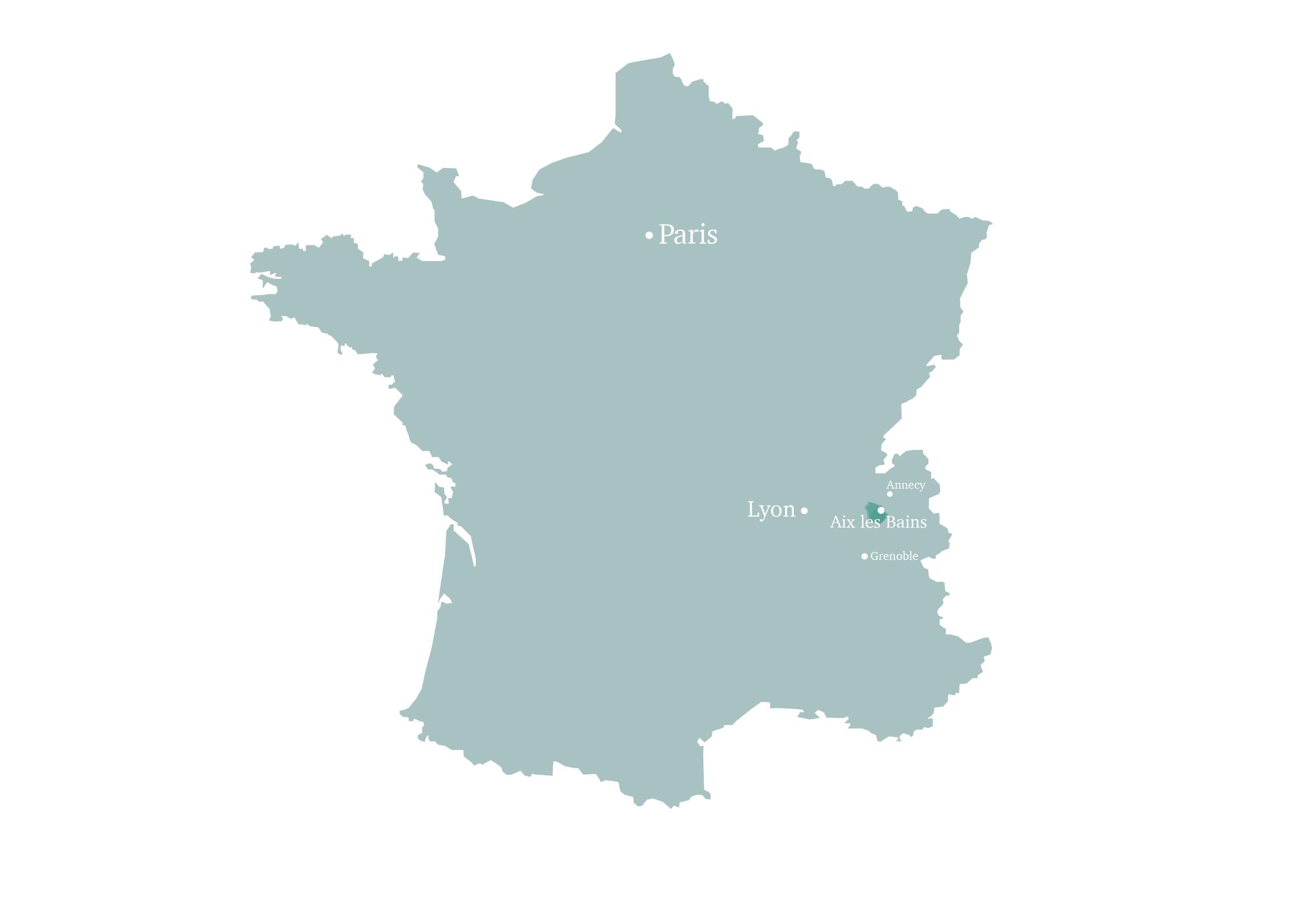 Aix les Bains en France