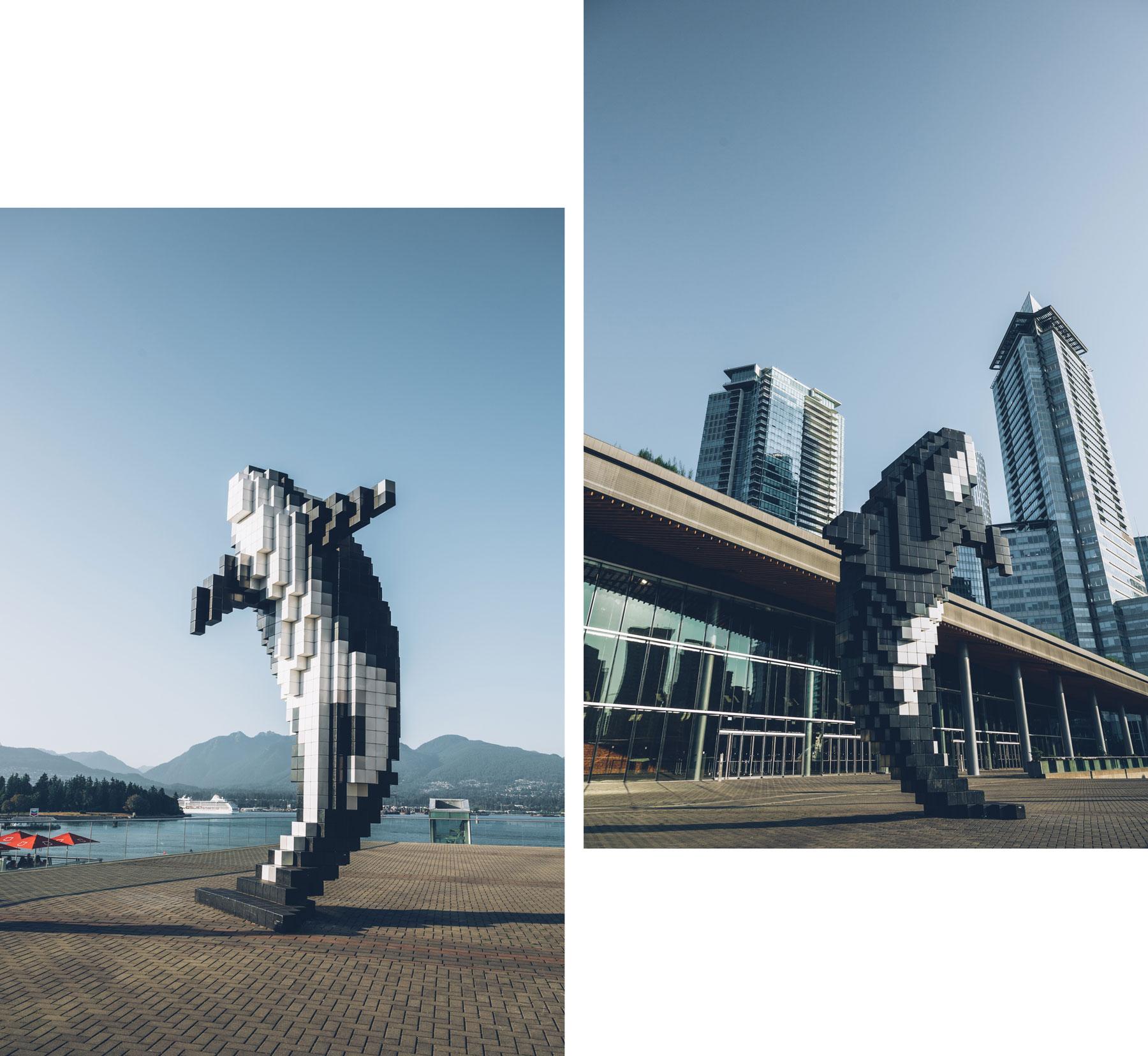 Digital Orca, Statue Vancouver