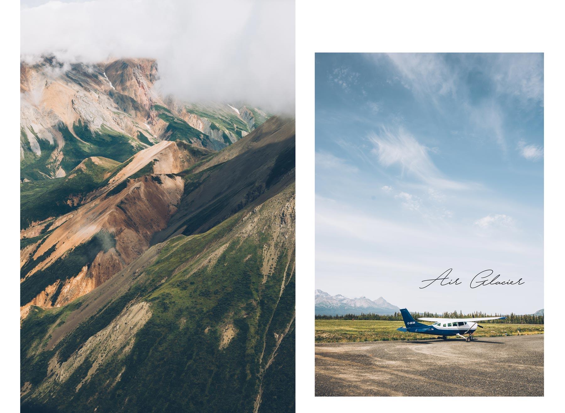 Air Glacier Kluane, Vol au dessus du Parc National