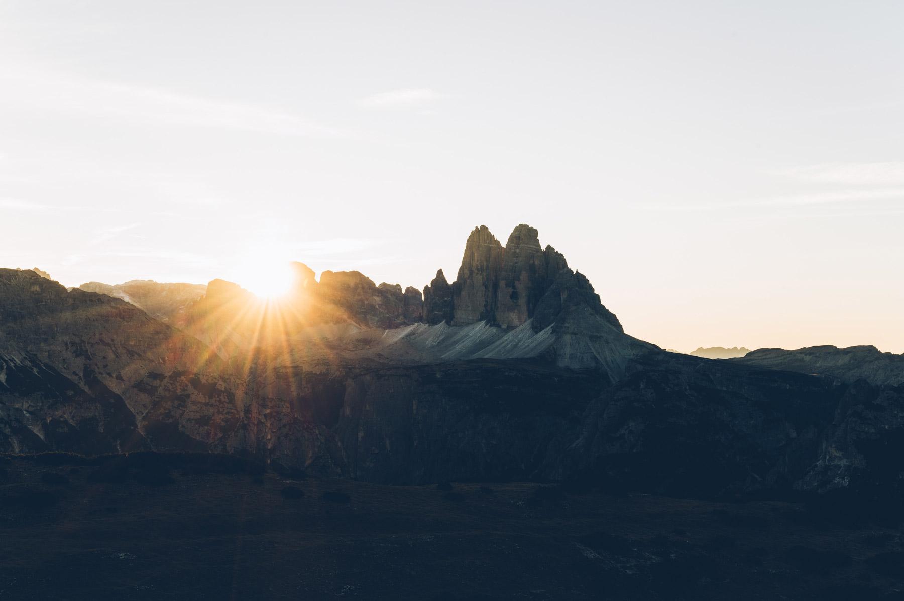 Tre Cimes, depuis Pratto Piazza, Dolomites