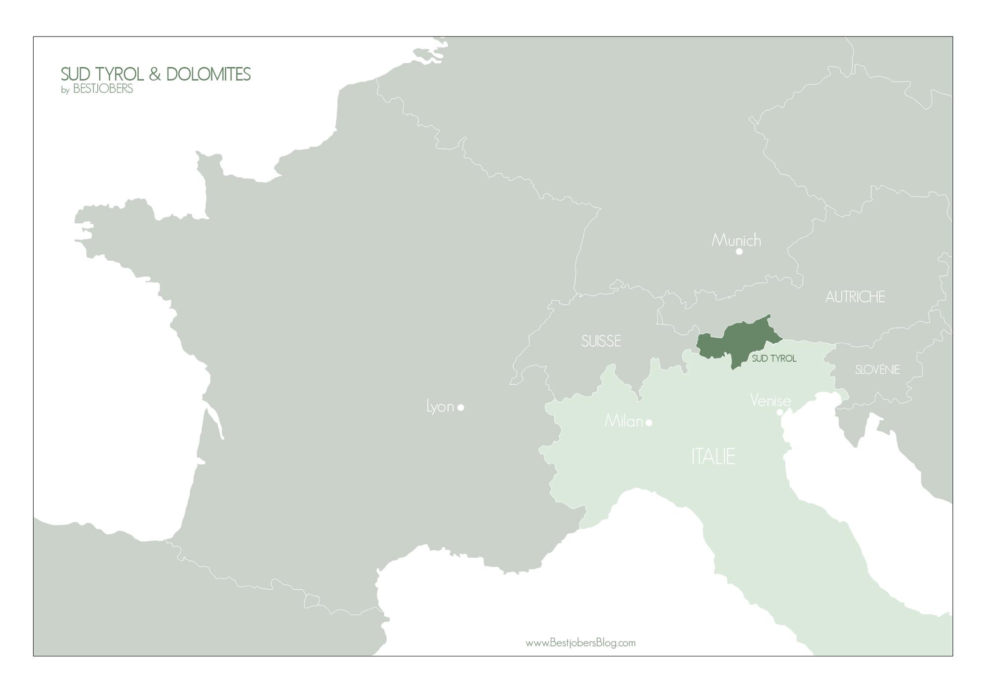 Carte Sud Tyrol Dolomites