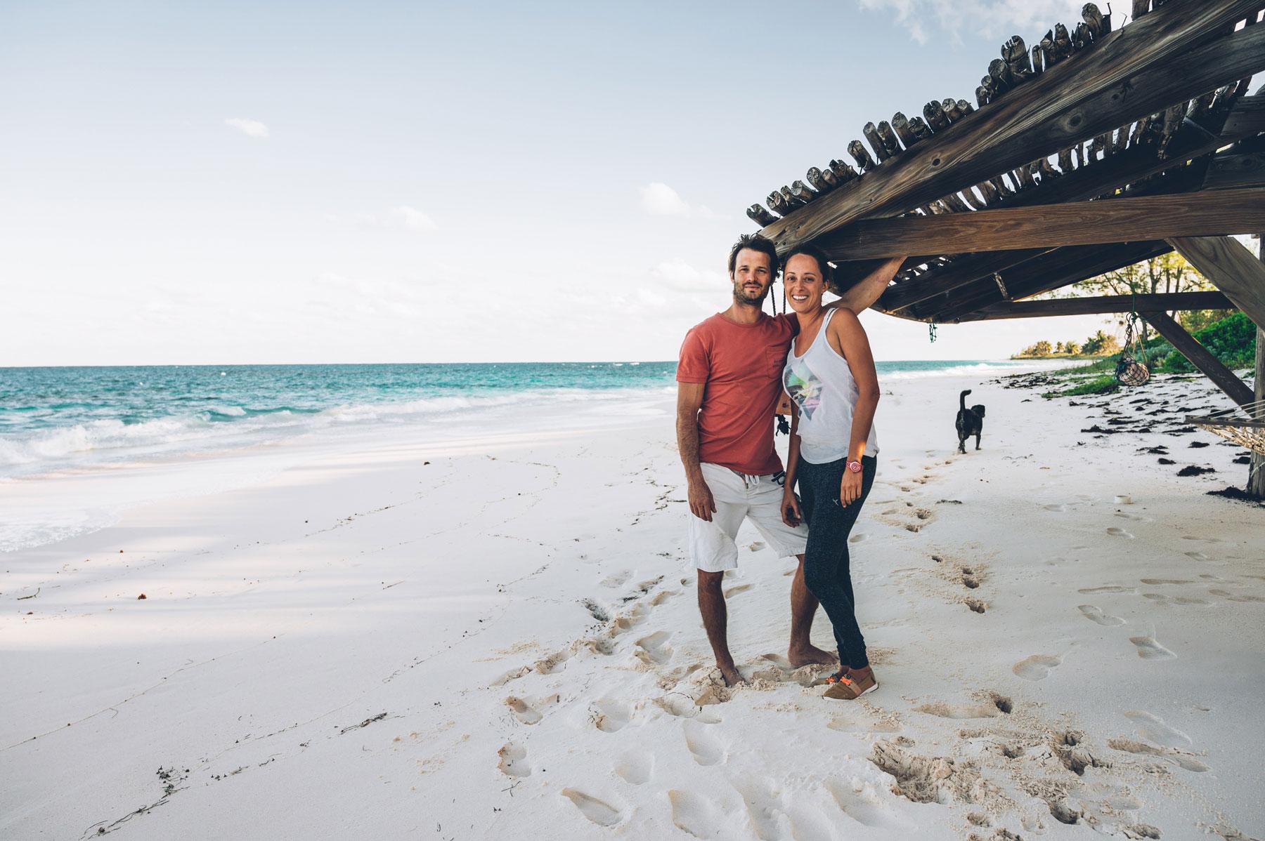 Pauline et Antoine, Greenwood Beach, Cat Island