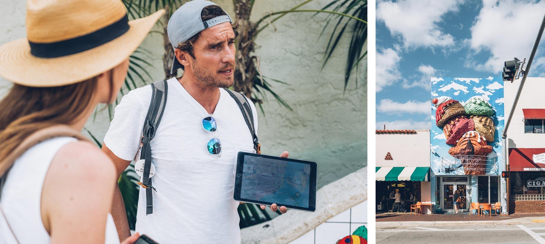 Miami en Français, Visite guidée