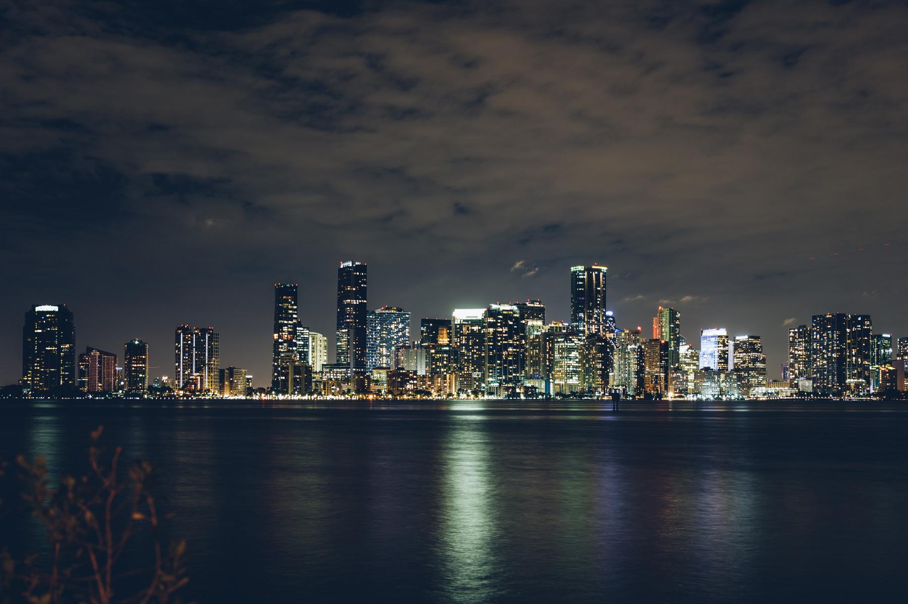 Miami Skyline depuis Rusty Pelican