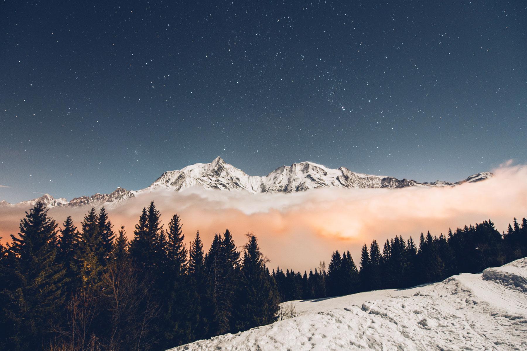 St Gervais Mont Blanc la nuit
