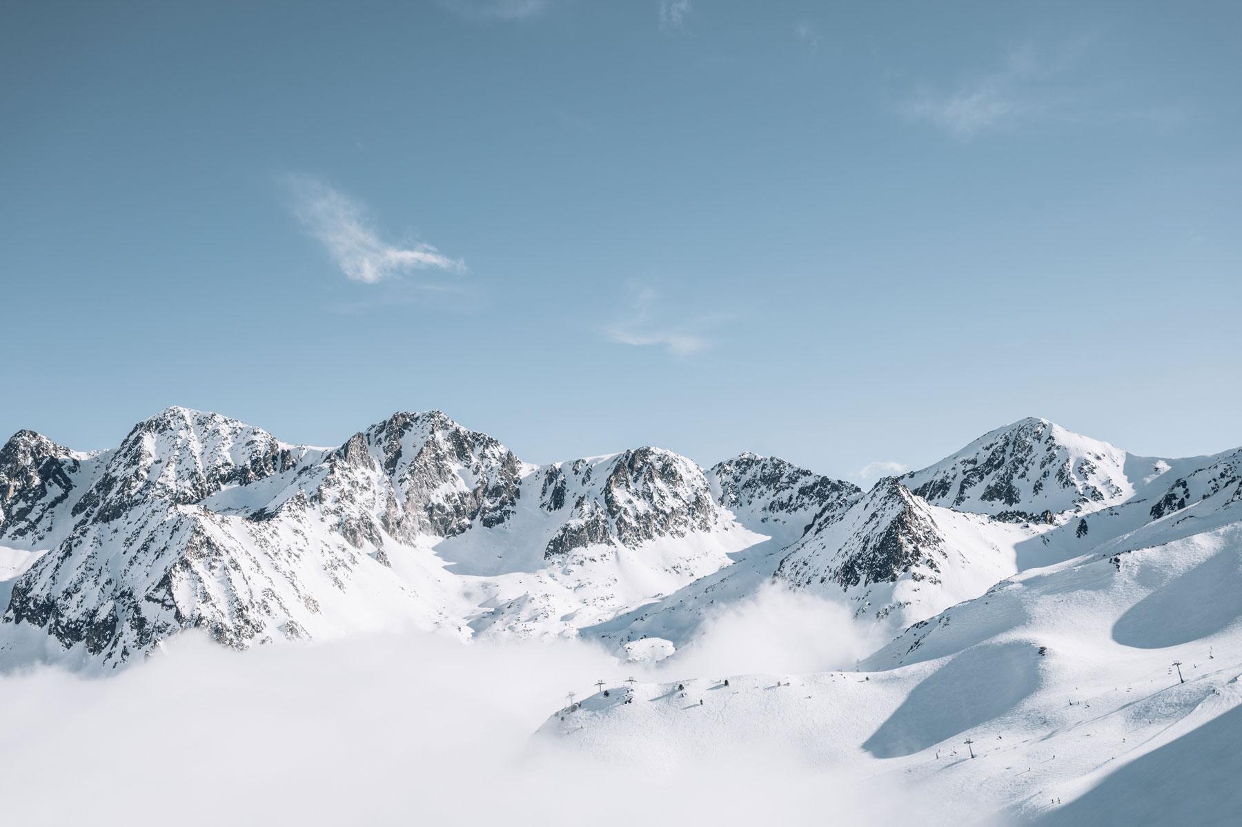Andorre Paysage enneigé