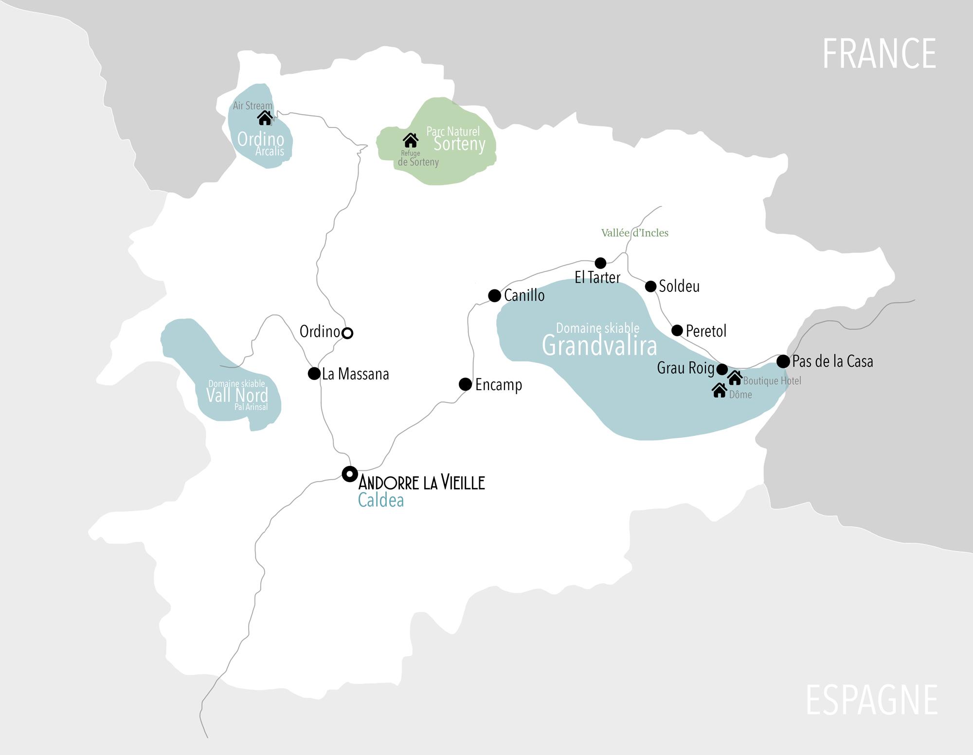 Andorre carte by Bestjobers