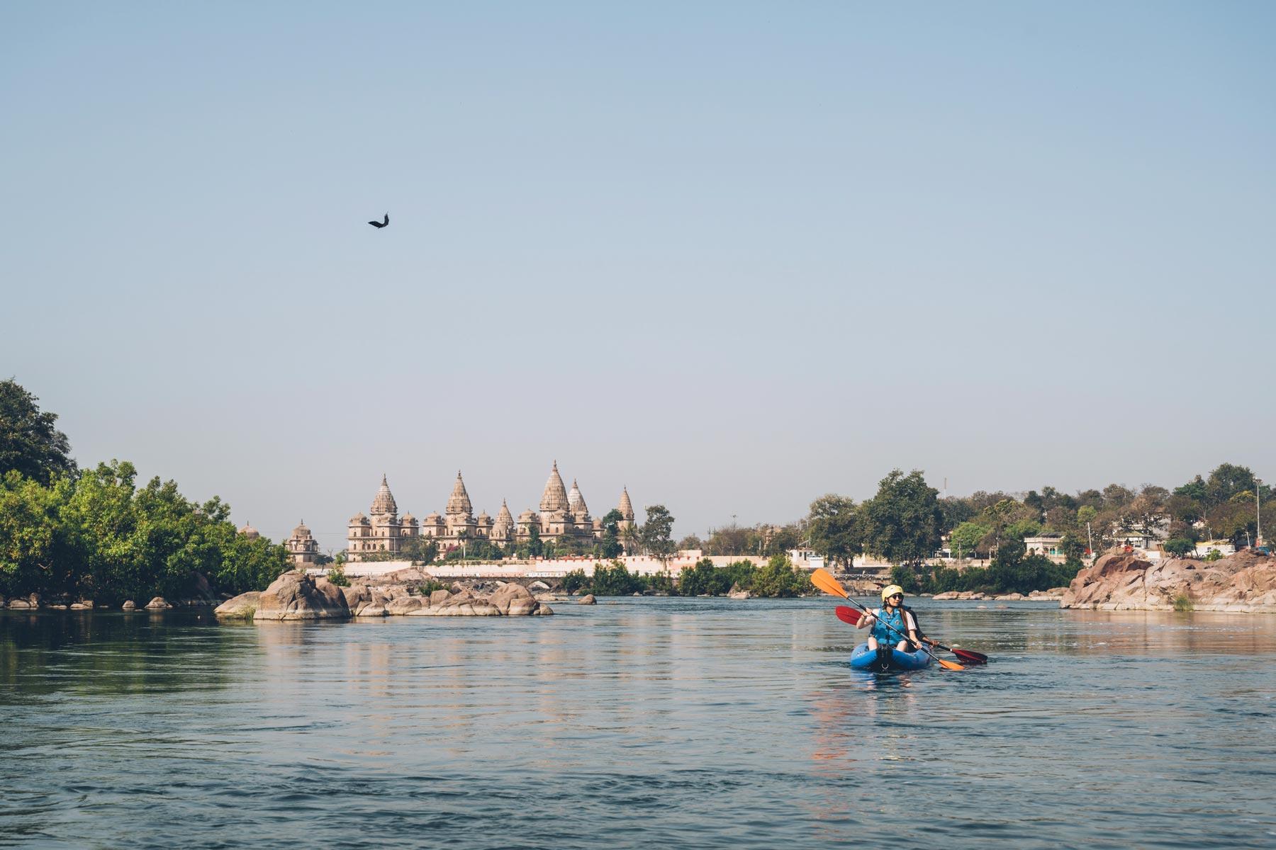 Kayak de Rivière, Orchha, Inde