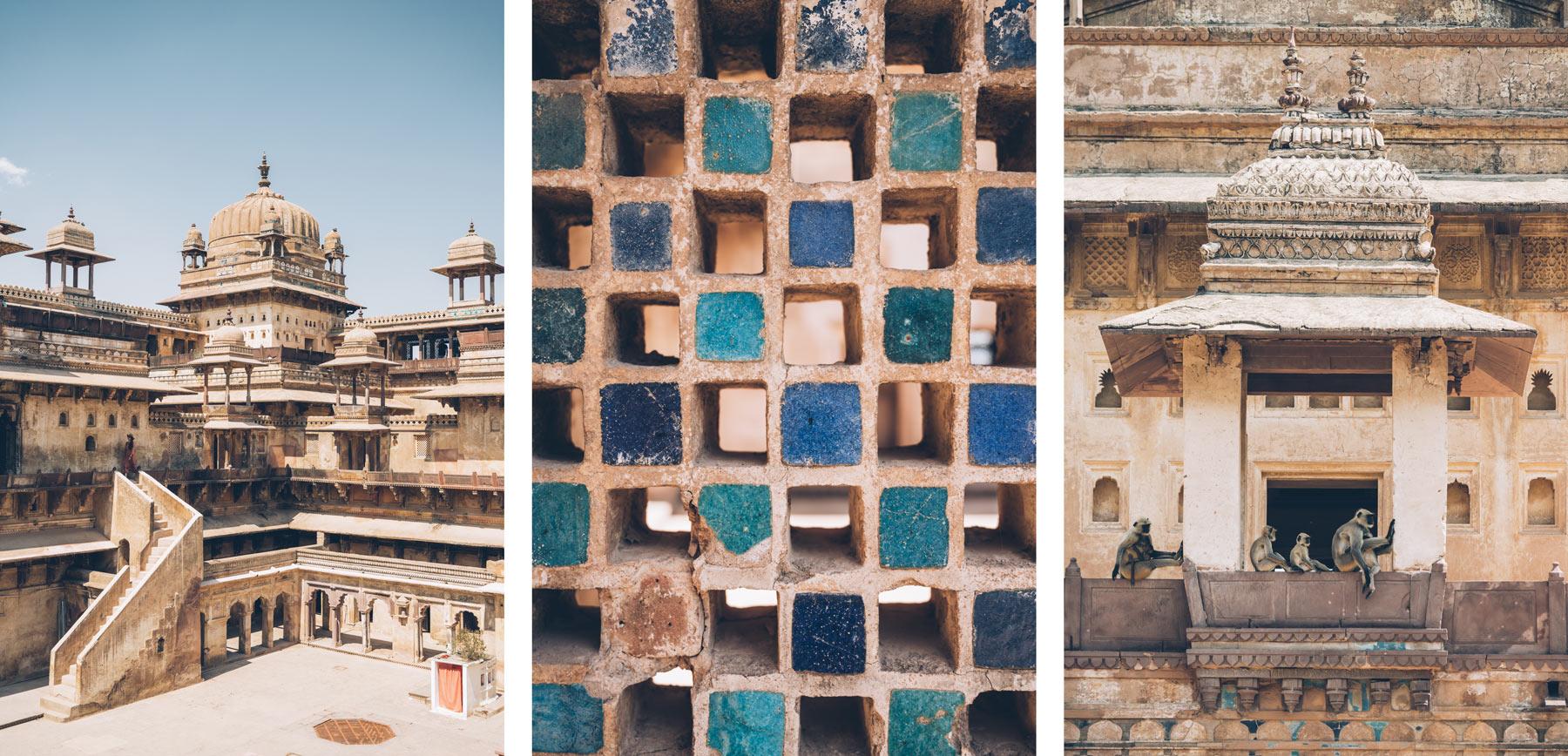 Palais d'Orchha, Inde