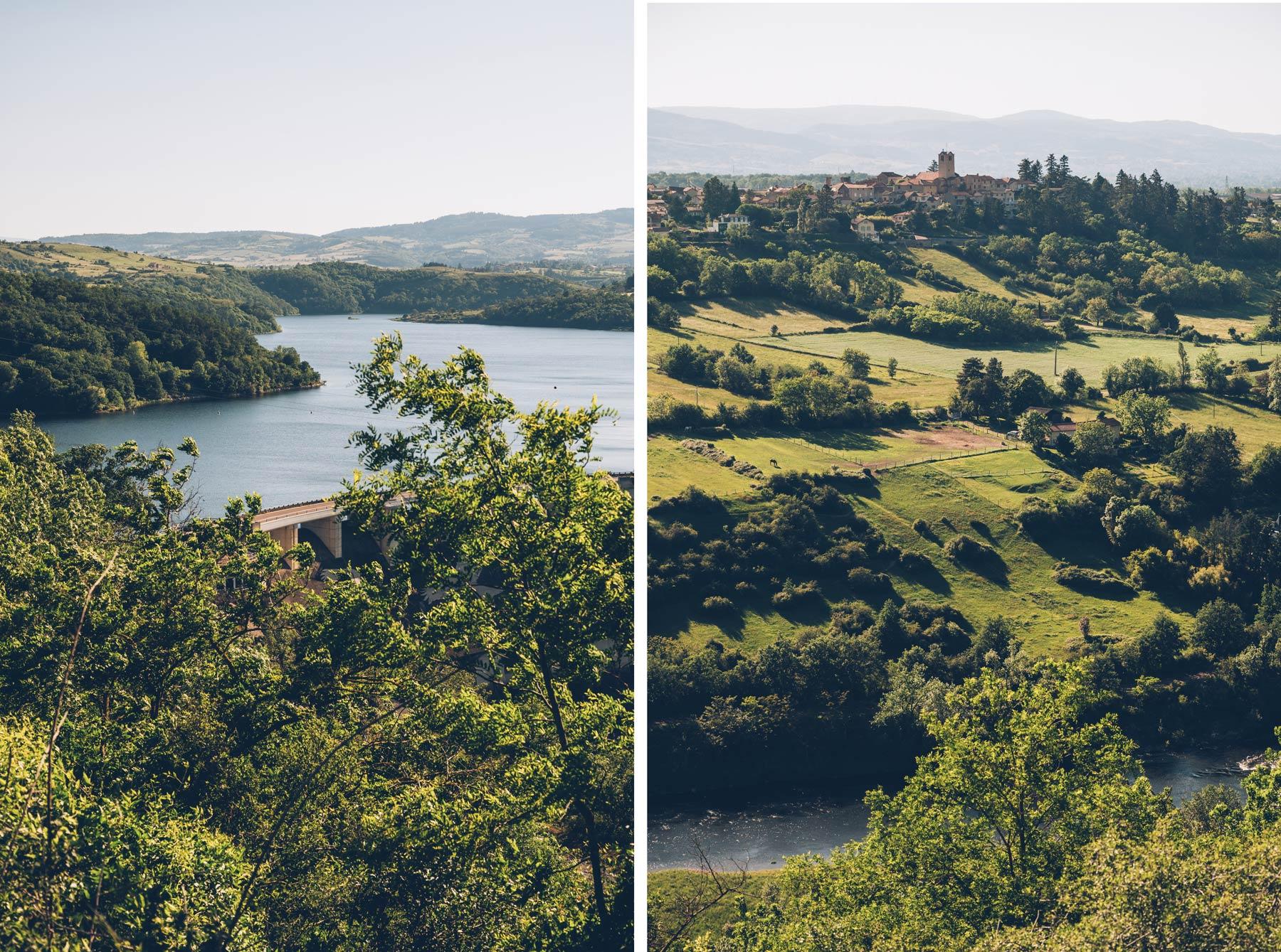 Le lac de Villerest près de Roanne