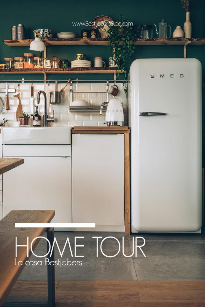 Home Tour Bestjobers, Cuisine verte et bois