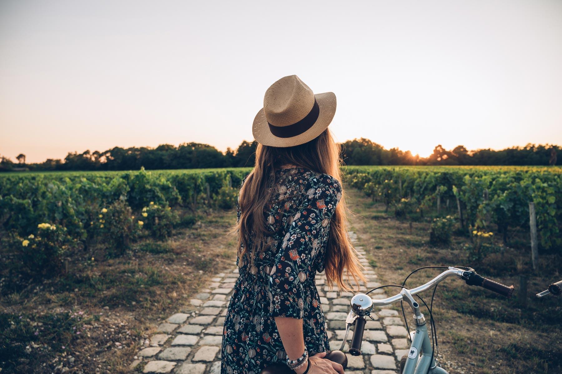 Balade dans les vignes près de Bordeaux