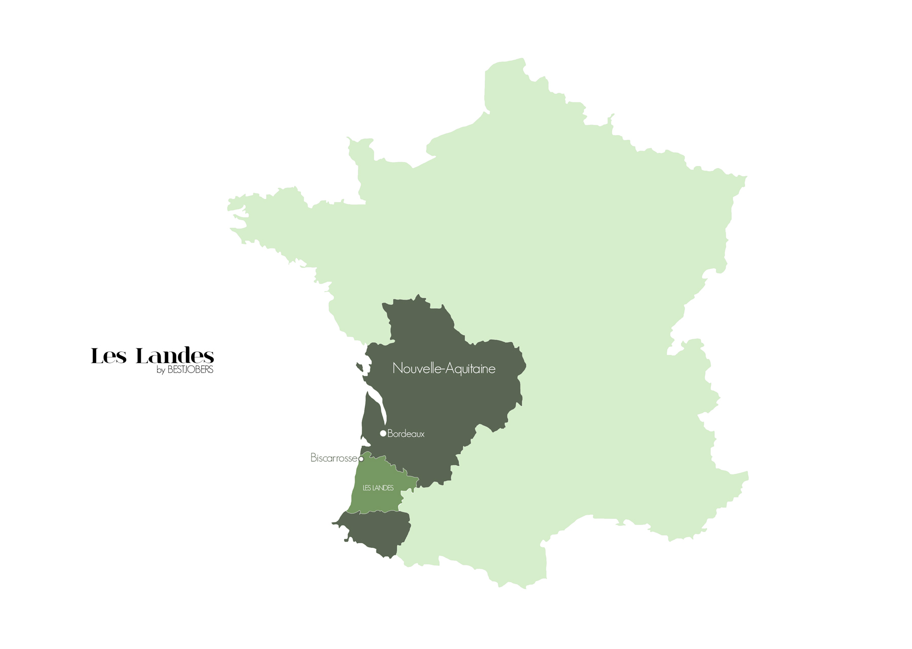 Carte des Landes et Biscarrosse