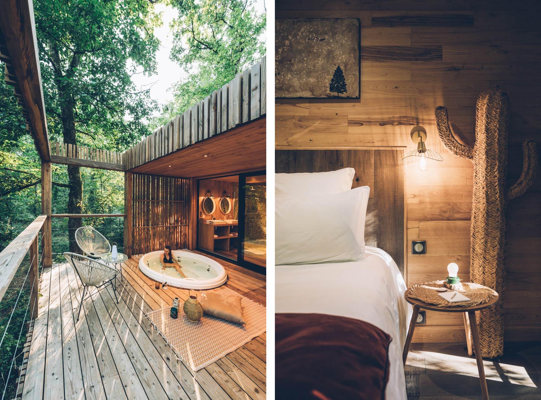 Cabane de luxe dans les arbres en France