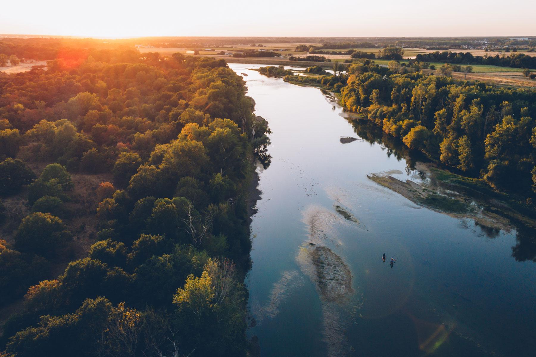 Canoe sur la Loire