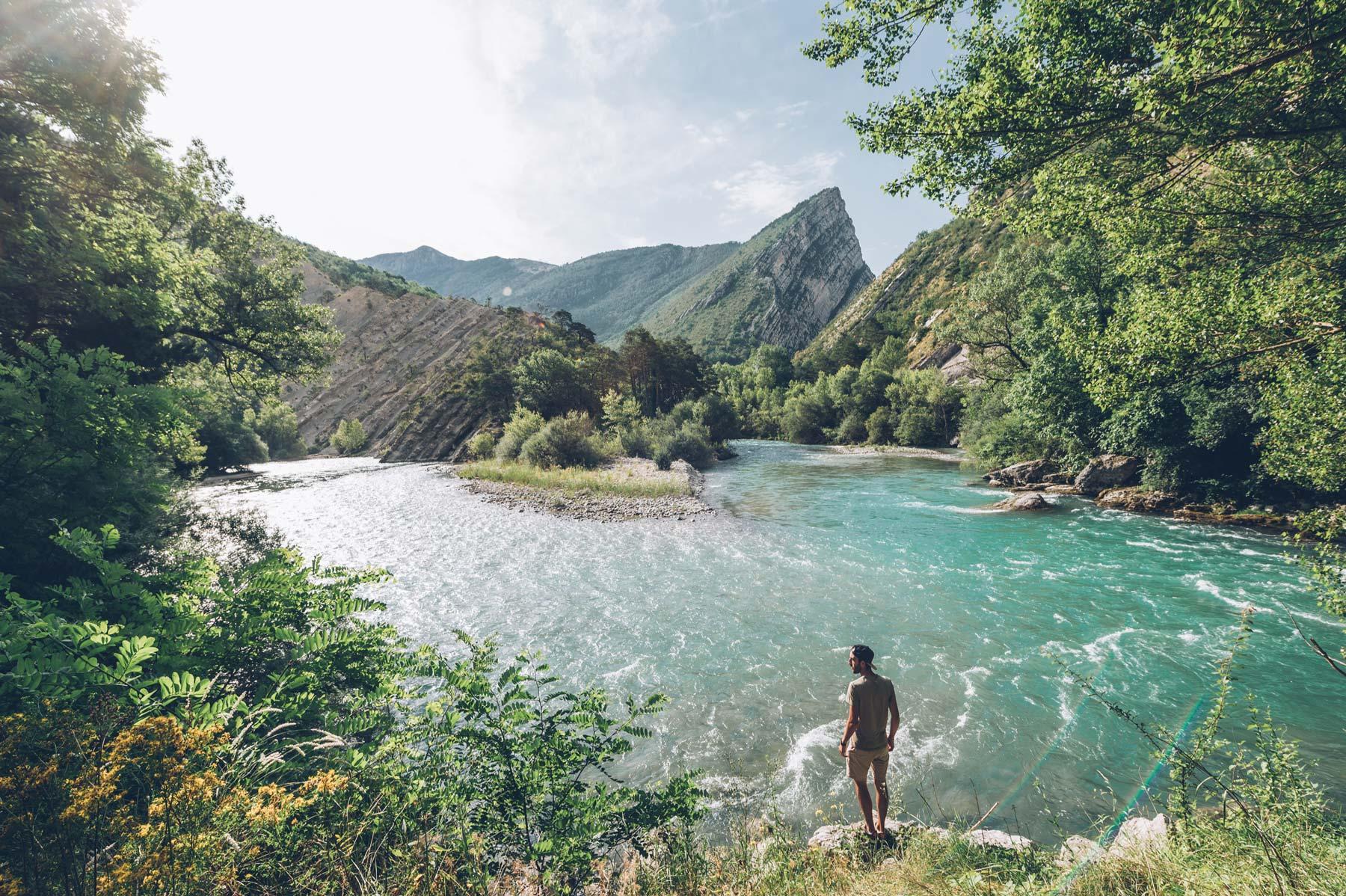 Bord de rivière chez Huttopia, Gorges du Verdon