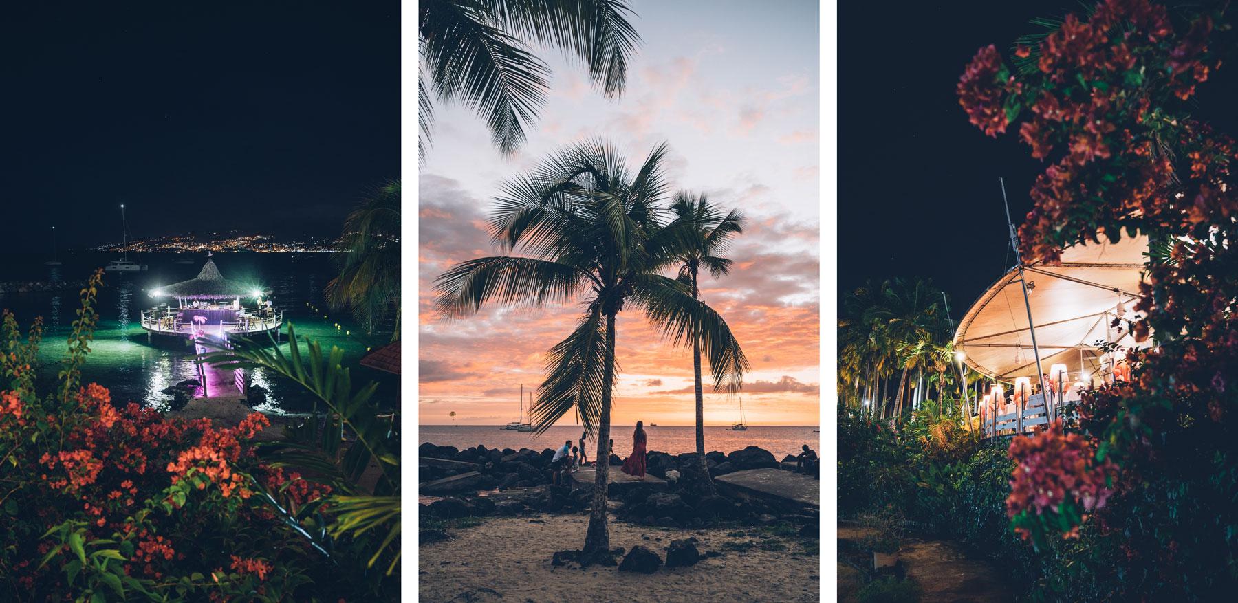 Coucher de soleil pointe du bout, Martinique