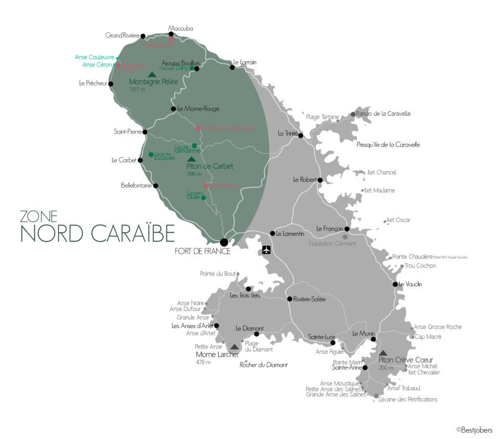 Carte Nord Caraïbe, Martinique