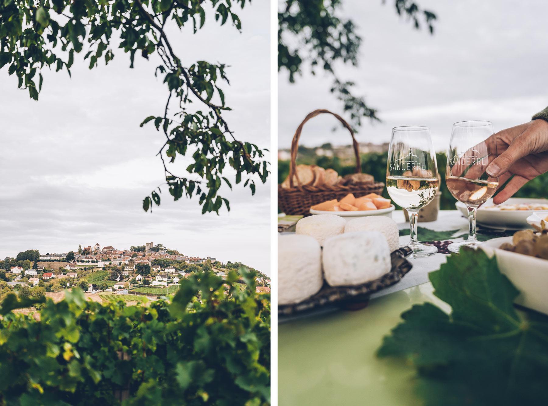 Dégustation dans les vignes de Sancerre