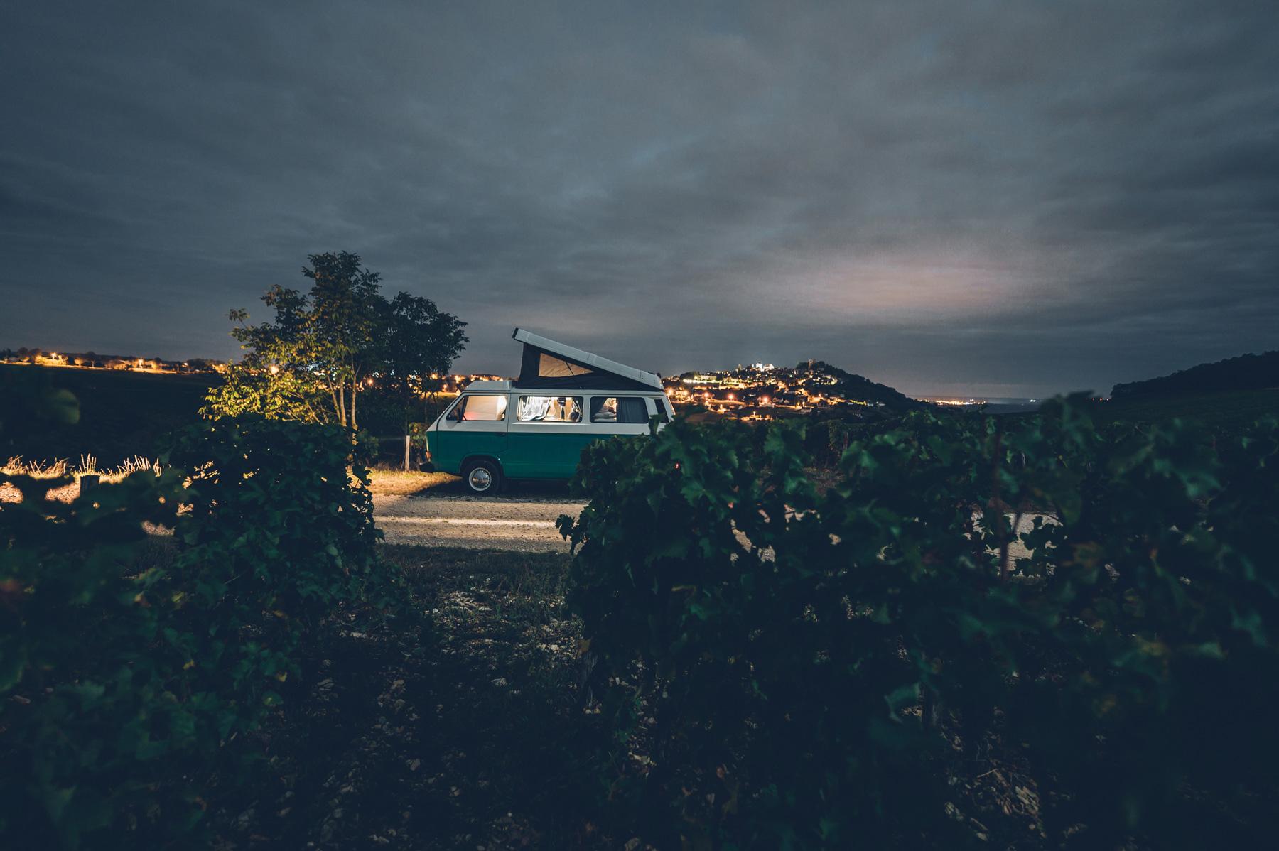 Nuit en van à Sancerre