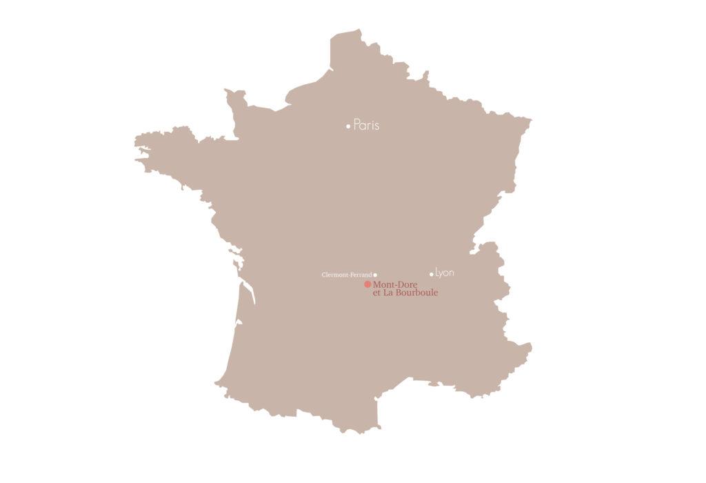 Carte Mont Dore en Auvergne