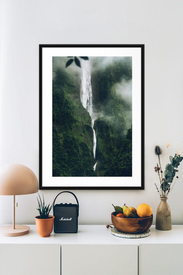 Tirage d'art, Cascade Blanche, La Réunion