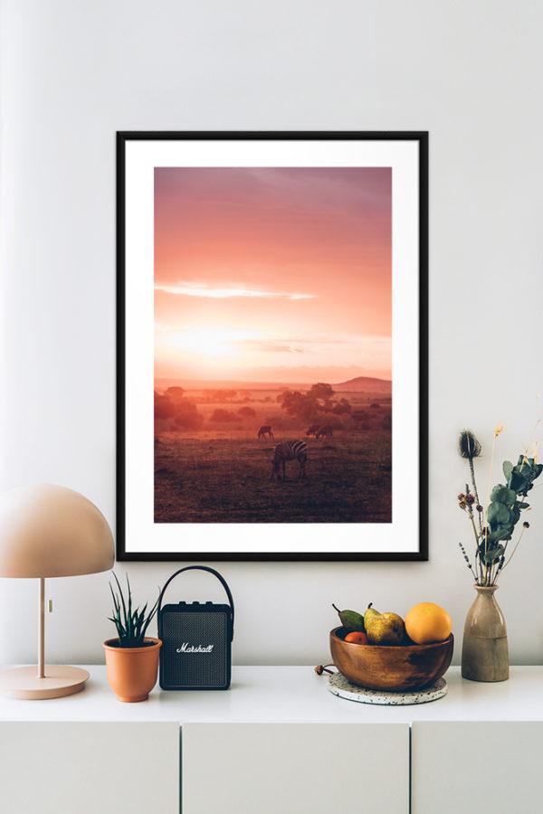 Tirage d'art, Sunset Kenya