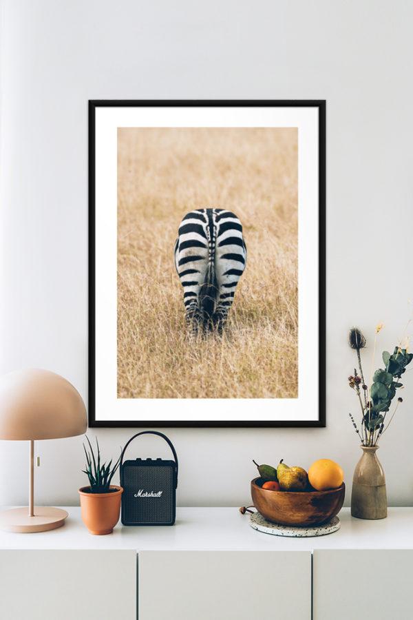 Tirage sur papier d'art, Zebre