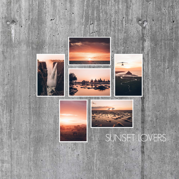 Cartes Sunset Lovers