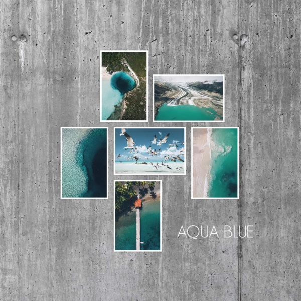 Cartes Aqua Blue