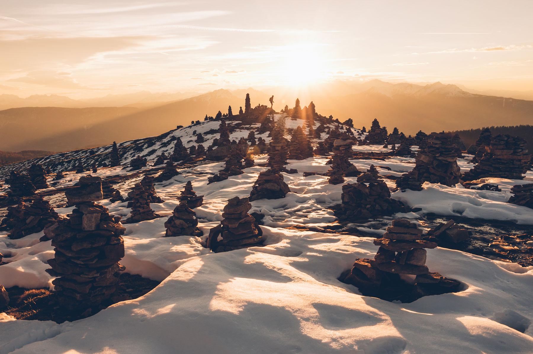 La rando des Cairns (pyramides de pierre) / Stoanerne Mandln