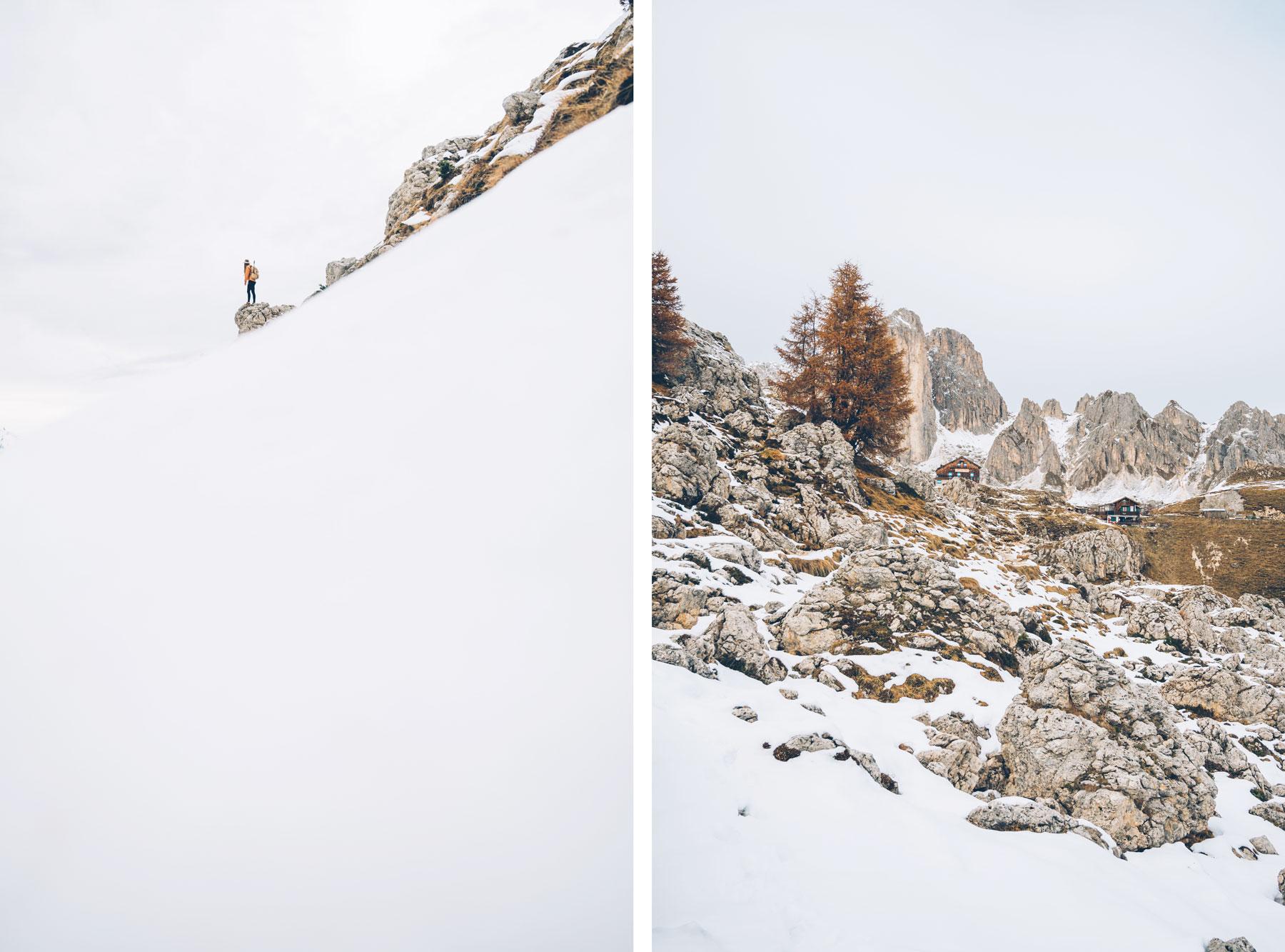 Randonnée dans le massif du Rosengarten, Dolomites